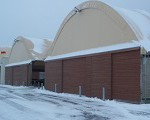 Tensioned membrane buildings are strong enough to bear heavy snow falls