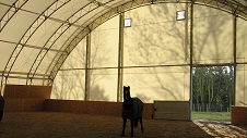 Tensioned membrane buildings are ideally suited to the construction of an indoor manège