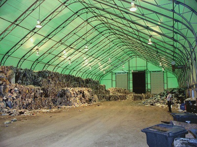 Tensioned membrane buildings are cost-effective solutions at waste and recycling depots