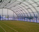 Tensioned membrane buildings are light and cool in summer and warm in the winter