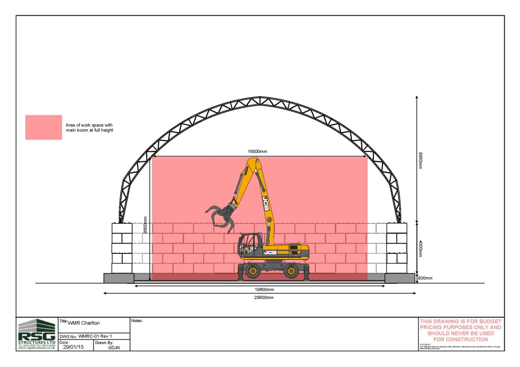 Technical drawing of the MRF in Charlton
