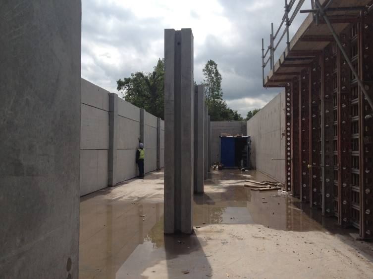 Picture of Pre-cast concrete posts at Rushmoor sewage works